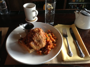 Brunch: Fried Chicken and Waffles
